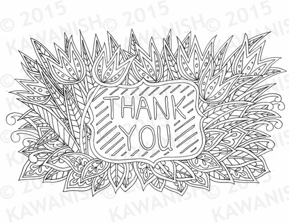 thank you floral flower zentangle