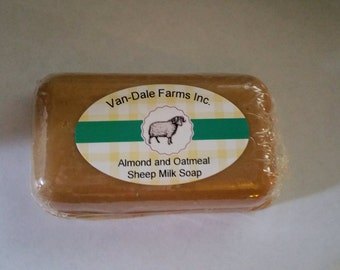 Almond and Oatmeal sheep milk soap