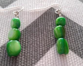 Sale - Green Shell Dangles