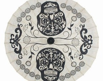 Day of the Dead Paper Parasol