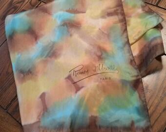Remoy d'Urville vintage signed silk scarf