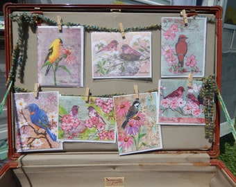 7 Birds Card Set  Free Shipping