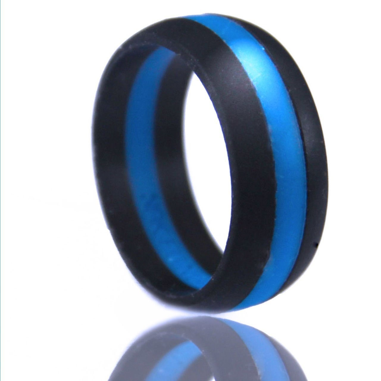 Men S Silicone Wedding Ring Striped Silicone Wedding By Drewsports