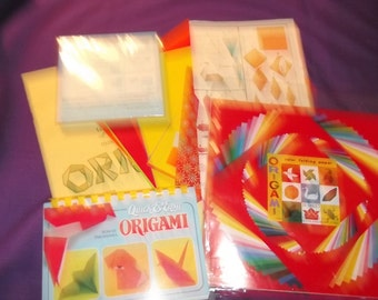 Origami papers and instructions, patterns