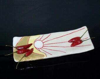 Japanese sushi caterpillar legs sun dish - small