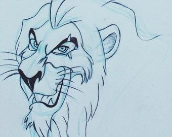 Scar drawing A4 Print