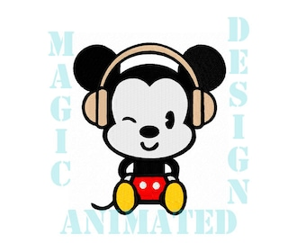Mickey Mouse Machine Embroidery Design in 2 sizes ---Instant download---