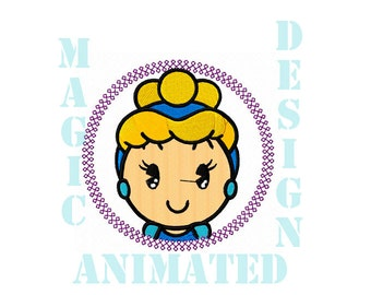 Aurora Princess Machine Embroidery Design in 4X4 ---Instant download---