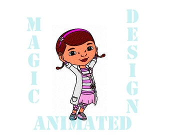 Doc McStuffins Machine Embroidery Design in 2 sizes ---Instant download---