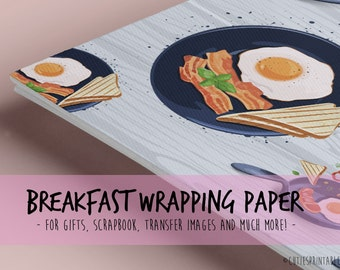 Eggs & Toast / Printable wrapping paper for Scrapbooking