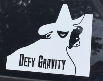 Defy Gravity Vinyl Car Decal