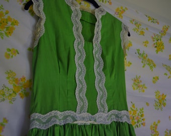 Rockabilly Kelly Green Skater Dress
