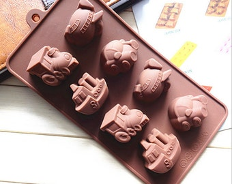 Vehicle Chocolate Mold Flexible Silicone Mold  Candy molds Fimo Resin Crafts food mould Epoxy mold Bakeware baking tools ice mold