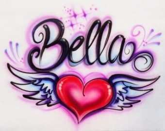 Name designs, personalized t shirts, airbrush t shirt, custom tees, airbrush pillowcases, personalized gifts