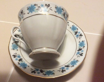 Vintage cup and saucer unknown mark