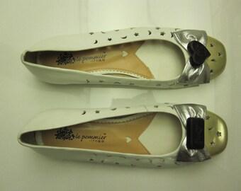 Le Pommier Leather Flats 42