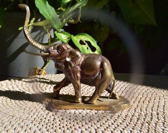 Vintage Brass Elephant