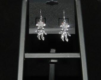 Sterling Silver Koi Earrings