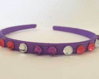 Double Pink and Purple Hard Headband (Rapunzel 2)