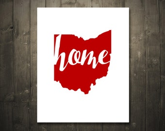 Ohio Home Red DIGITAL DOWNLOAD 8x10