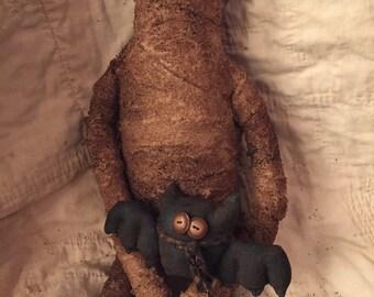 Primitive Halloween Decor/Mummy and Batty