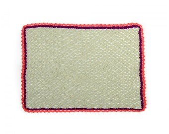 LESOVA Crochet Dining Table Placemats Cotton Rectangle