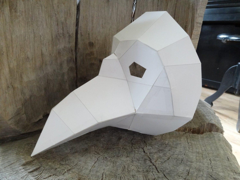 DIY Halloween mask Plague Doctor Mask Paper bird mask crow