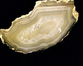 Geode Slice w/ Crystals
