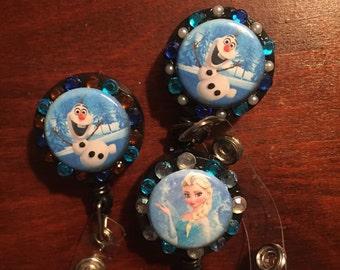 Frozen retractable badge holders