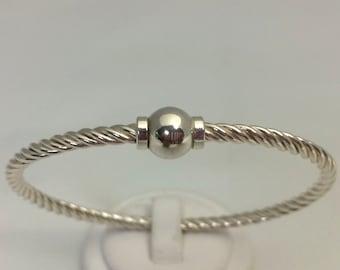 Sterling Silver Twist Beach Bracelet