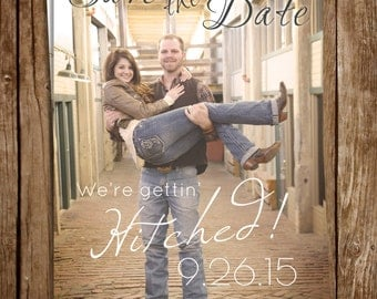 Rustic Photo Save the Date 5x7 #3