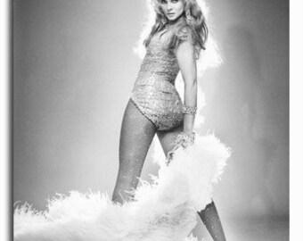 Ann Margret Feather Boa B/W  8x10 Photograph