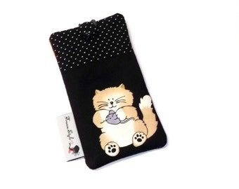 Smartphone cell phone bag mobile cover cat & mouse normally
