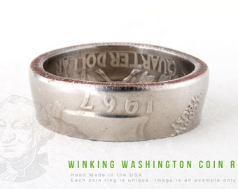 COIN RING - 1970 - Handmade in the USA - All Sizes Available