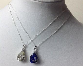 Crystal Bridal Necklace, Bridesmaid Jewelry, Wedding Necklace, Bridal Party Jewelry, silver faceted crystal teardrop pendant Necklace,