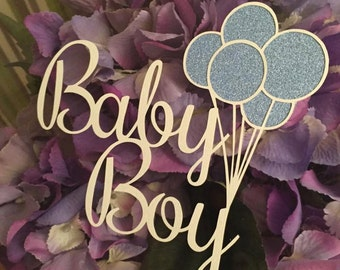 Baby Boy Balloons Papercutting Template Personal Use