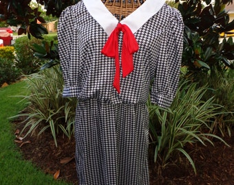 Back to School Houndstooth Print Dress