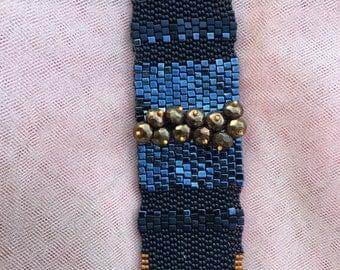 Elegant Iridescent Bracelet Cuff   Fantastic Holiday Gift