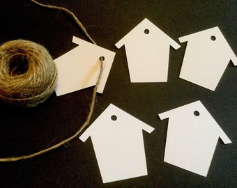 Bird house/home gift tags x 12