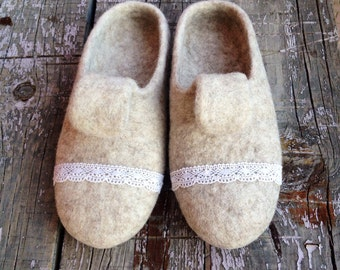 felted wool slippers for women, home shoes, wintershoes