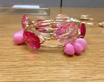 Pink smink bangle set