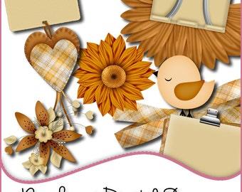 Designer Resources,Commercial Use,Clpart,Autumn,Scrapbooking,Card Making,Autumn Elements