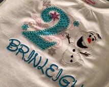 Frozen 2nd Birthday Custom Shirt