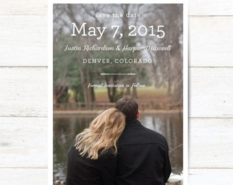 Picture Save The Date // Digital Download // Printable