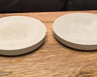 Set of 4 Unfinished Cement Coasters