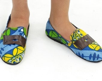 Africa Inspired WaxPrint Boys Deck  Shoes