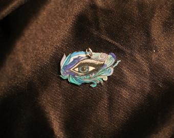Blue mask eye