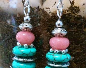 Elegant southwest style dangle earrings. .