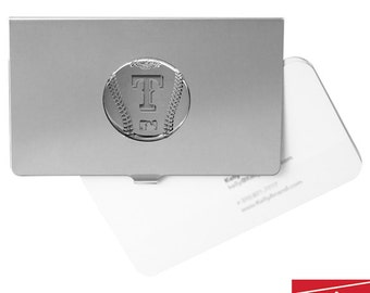 Texas Rangers Rhodium Plated, Officially MLB Licensed, Business Card Holder FREE SHIPPING