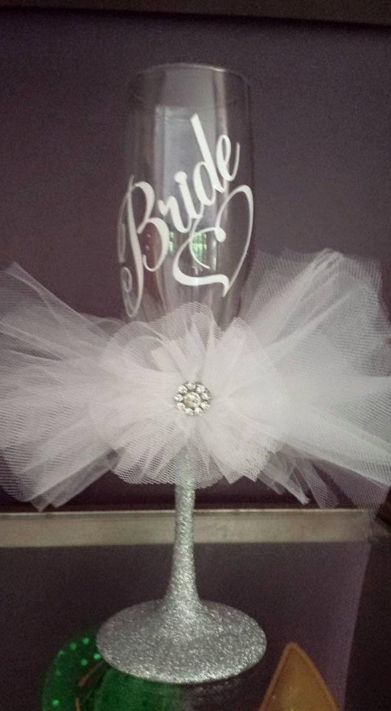 Items Similar To Wedding Bride Champagne Toasting Vinyl